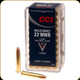 CCI - 22 WMR - 40 Gr - Maxi-Mag - Total Metal Jacket - 50ct - 0023