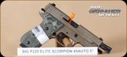 "SIG - 45ACP - P220 - Scorpion, FDE, threaded barrel, 4.4"""