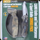 Accusharp - Camo Knife and tool sharpener & Sport Knife Combo Pack