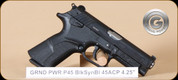 "Grand Power - P45 - 45ACP - BlkSyn/Bl, DA/SA operation, rotary barrel, 2 mags, 4.25"""