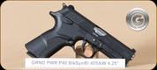 "Grand Power - 40S&W - P40 - BlkSyn/BL, DA/SA operation, rotary barrel, 2 mags, 4.25"""