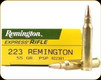 Remington - 223 Rem - 55 Gr - High Performance Rifle - Pointed Soft Point - 20ct - 28399