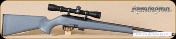 "Remington - 22LR - Model 597 - Semi Auto Rifle - Gray Synthetic Stock/Matte Black Finish, 20"" Barrel, 10 Rounds, c/w 3-9x32 Scope and Mounts, Mfg# 26513"
