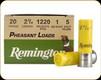 """Remington - 20 Ga 2.75"""" - 1oz - Shot 5 - Pheasant Loads - 25ct - 20018"""