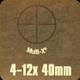 Bushnell - Banner Combo - 4-12x40mm - Multi X - Black