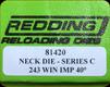Redding - Neck Sizing Die - 243 Win AI - 81420