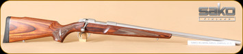 """Sako - 204Ruger - 85 Varmint - Brown Laminate/Stainless, 23.7""""Fluted Barrel, Single Set Trigger - Mfg#JRSG522"""