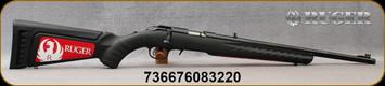 """Ruger - American - 22WMR - BlkSyn/Bl,Threaded, 18"""" Barrel - Mfg# 08322"""