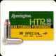 Remington - 38 Spl+P - 110 Gr - High Terminal Performance - Semi-Jacketed Hollow Point - 50ct - 22299