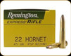 Remington - 22 Hornet - 45 Gr - Express - Pointed Soft Point - 50ct - 28376