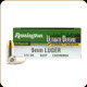 Remington - 9mm Luger - 124 Gr - Ultimate Defense Compact Handgun - Brass Jacketed Hollow Point - 20ct