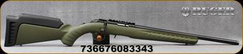 "Ruger -  22LR - American Rimfire Standard - OD Green Synthetic Stock/Blued, 18""Threaded(1/2""-28)Barrel, Mfg# 08334"