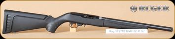 """Ruger - 22LR - 10/22 - BlkSyn/Bl, Takedown, target tactical, fluted, heavy barrel, 16"""""""