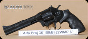 Alfa Proj - 361 - 22WMR - Blued Alloy, 6""