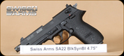 "Swiss Arms - 22LR - SA22 - BlkSyn, 4.75"""