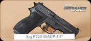 "SIG - 45ACP - P220 - Nitron, BlkSyn/Bl, DA/SA, 4.4"""