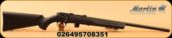 "Marlin - 22LR - XT Varmint - Bolt Action Rifle - Black Synthetic/Blued, 22"" Heavy Barrel, 7 Rounds, Factory installed scope bases, Pro-Fire Adjustable trigger, Mfg#70835"