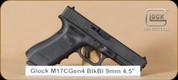 "Glock - 9mm - G17 - G4, BlkSyn, 3 magazines, fixed sights, 4.5"" - Mfg# UG1759201"