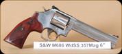 """S&W - 357Mag/38Spl - Model 686 - TALO Exclusive, DA/SA, Lam/SS, 6""""- Mfg# 150712"""