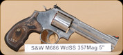"""S&W - 357Mag/38Spl - Model 686 -  TALO Exclusive, DA/SA, Blk Lam/SS, unfluted cylider, 7 round capacity, 5"""" - 150854"""