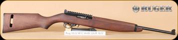 """Ruger - 22LR - 10/22 - M1 Carbine, Wd/Bl, 10/15 rd magazine, 18.5"""""""
