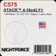 NIGHTFORCE - ATACR - 4-16x42 F1 - ZeroHold - .1 Mil-Radian - DigIllum -  PTL - TReMor3 - C575
