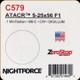 NIGHTFORCE - ATACR - 5-25x56 F1 - ZeroStop - .1 Mil-Radian - DigIllum - PTL - Mil-C - C579