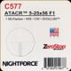NIGHTFORCE - ATACR - 5-25x56 F1 - ZeroStop - .1 Mil-Radian - DigIllum - PTL - H59 - C577