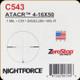 NIGHTFORCE - ATACR - 4-16x50 - ZeroStop - .1 Mil-Radian - DigIllum - PTL - Mil-R - C543