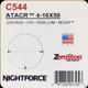 NIGHTFORCE - ATACR - 4-16x50 - ZeroStop - .250 MOA - DigIllum - PTL - MOAR - C544