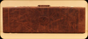Browning - Crazy Horse Distressed Leather Fitted Gun Case - Accessory Compartment - 6 Choke Tube Slots - Brown