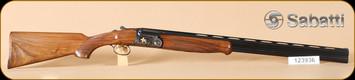 """Sabatti - 12Ga/3""""/28"""" - Jaguar Gold - Wd/Bl, engraved receiver, ejectors"""