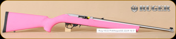 "Ruger - 22LR - 10/22 - Pink Hogue/Stainless, 18.5"", Mfg# 01201"