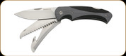 "Browning - Kodiak - Folding Lockback - 3 1/2"" Blades - Three Folding 7Cr17MoV Stainless Steel - Includes a Drop point Blade, Guthook, & Double Bone Saw - Grey & Black"