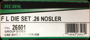 RCBS - Full Length Dies - 26 Nosler - 26501