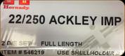 Hornady - Full Length Dies - 22-250 Rem Ackley Improved - 546219