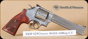 "S&W - 44Mag - Model 629 - Classic, Wd/SS, 6.5"" - Mfg# 150714"