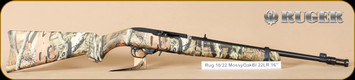 "Ruger - 22LR - 10/22 - Mossy Oak Infinity Takedown/Blued, 18.5"", flash hider, nylon case"