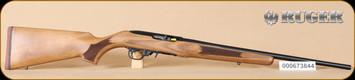 """Ruger - 22LR - 10/22 - French Walnut/Blued, No sights, 20"""" - K"""
