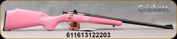 "Crickett - 22LR - PinkSyn/Blued, 16"", includes base, rings, and 4x32 scope - Mfg# KSA2220BSC"