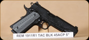 Remington - 45ACP - 1911 R1 - Tactical, G10 Grips/Blk, 5""