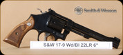"S&W - 22LR - 17 Masterpiece - Wd/Bl, adjustable sights, 6"" - 150477"