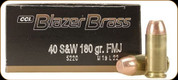Blazer - 40 S&W - 180 Gr - Full Metal Jacket - 50ct - 5220