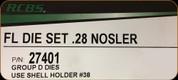 RCBS - Full Length Die Set - 28 Nosler - 27401
