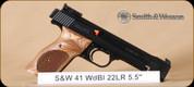 """S&W - Model 41 - 22LR - Wd/Bl, 5.5"""""""