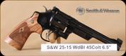 """S&W - 25 - 45Colt - Wd/Bl, 6.5"""""""