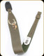 "Levy's Leather - Leather Sling - 2 1/4"" Green Garment Leather Elk Embroidery - 37"" - SNG20EE-GRN"