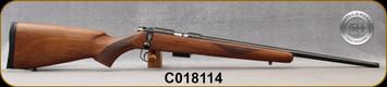 "Cogswell & Harrison - 17HMR - Certus - Walnut/Blued, adjustable trigger pull, 2 sling studs, 1/2"" UNF muzzle threading, 20"" - S/N C018114"