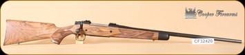 "Cooper - 6.5x55Swedish - M52 - Custom Classic, French Walnut/Blued, inlayed swivels, skeleton grip cap, checkered bolt knob, Neidner butt plate, 24"""