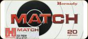 Hornady - 223 Rem - 68 Gr - Match - BTHP - 20ct - 80289